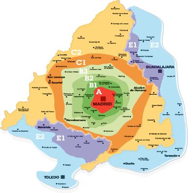Zonas Tarifarias de CRTM