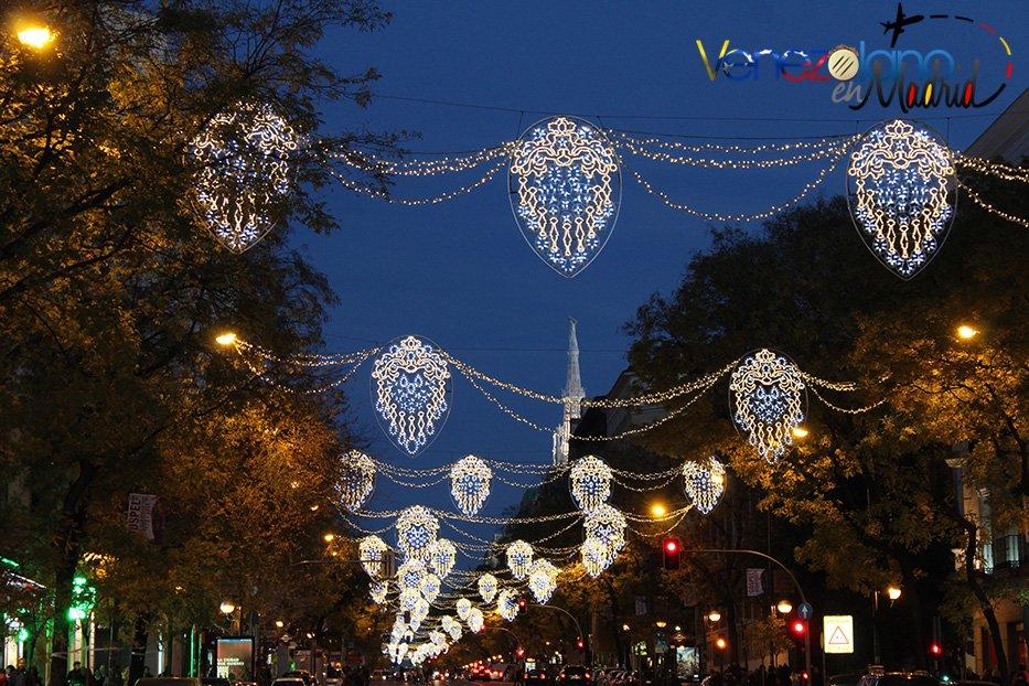 Navidad en Madrid: Calle Goya.