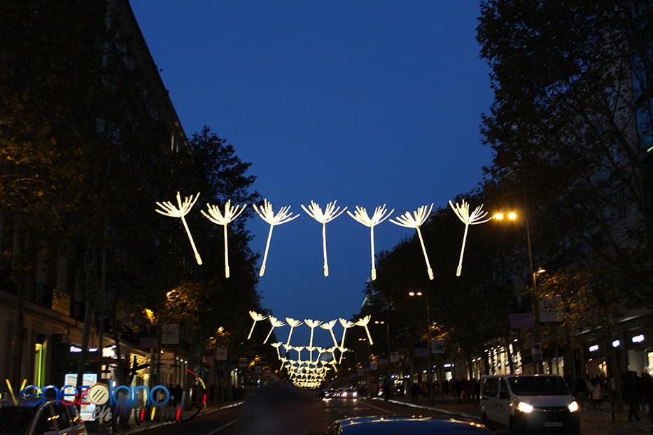 Navidad en Madrid: Calle Serrano.