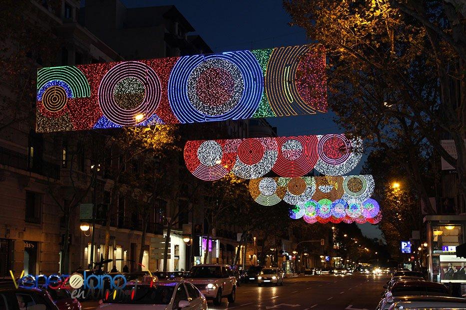 Navidad en Madrid: Calle Velázquez.