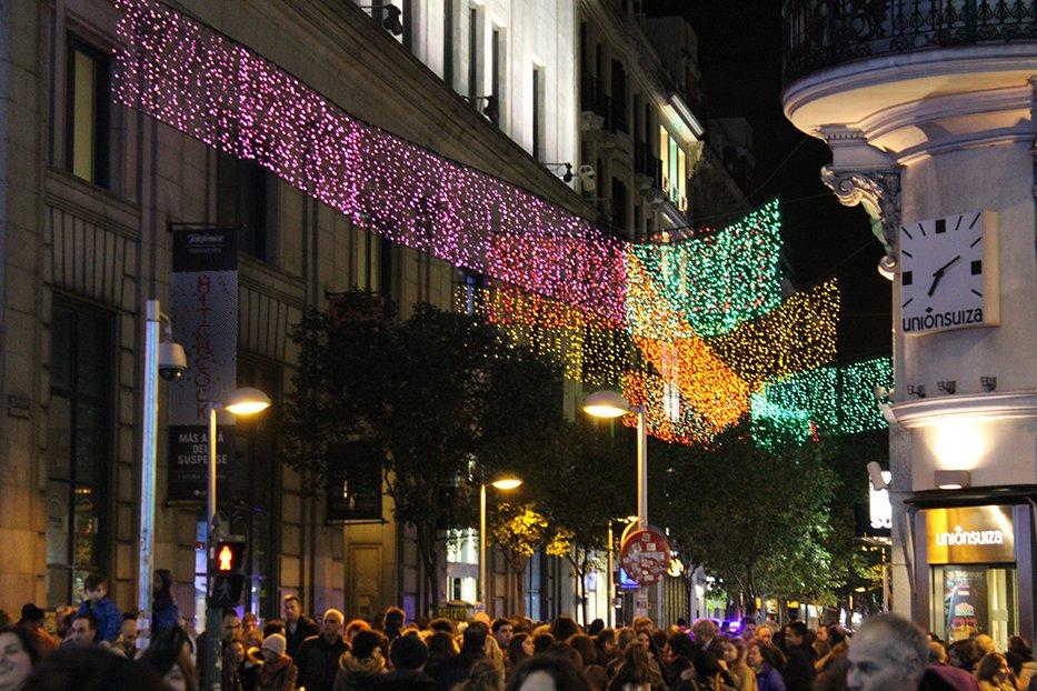 Navidad en Madrid: calle Fuencarral.
