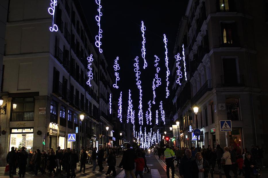 Navidad en Madrid: Calle Mayor.