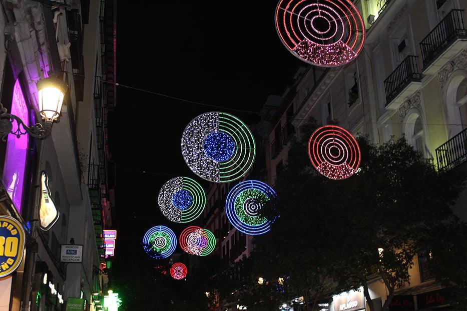 Navidad en Madrid: Calle Montera.