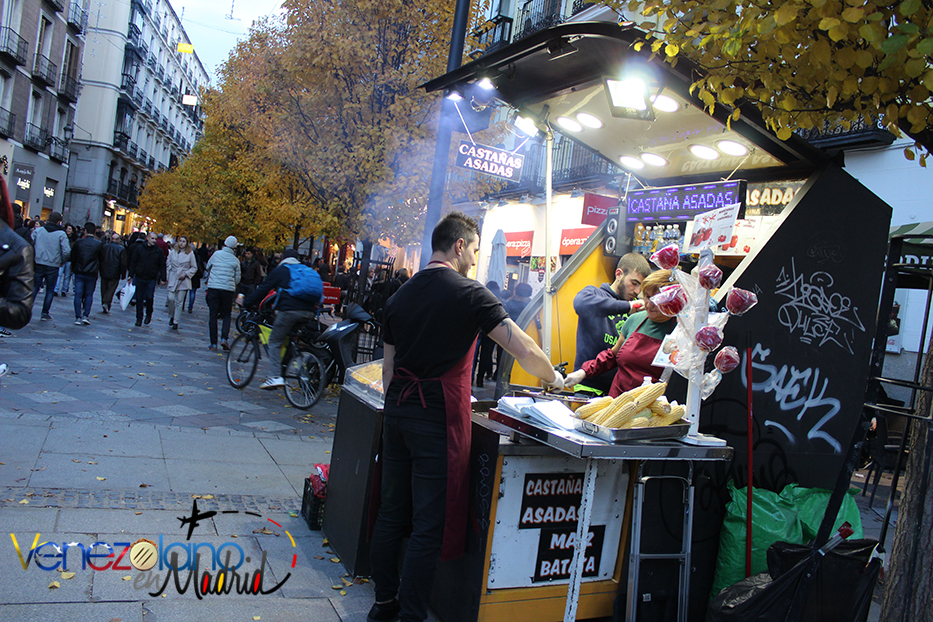 Navidad en Madrid: castañas asadas.