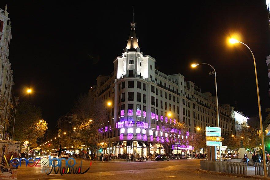 Navidad en Madrid: calles Alcalá y Goya.