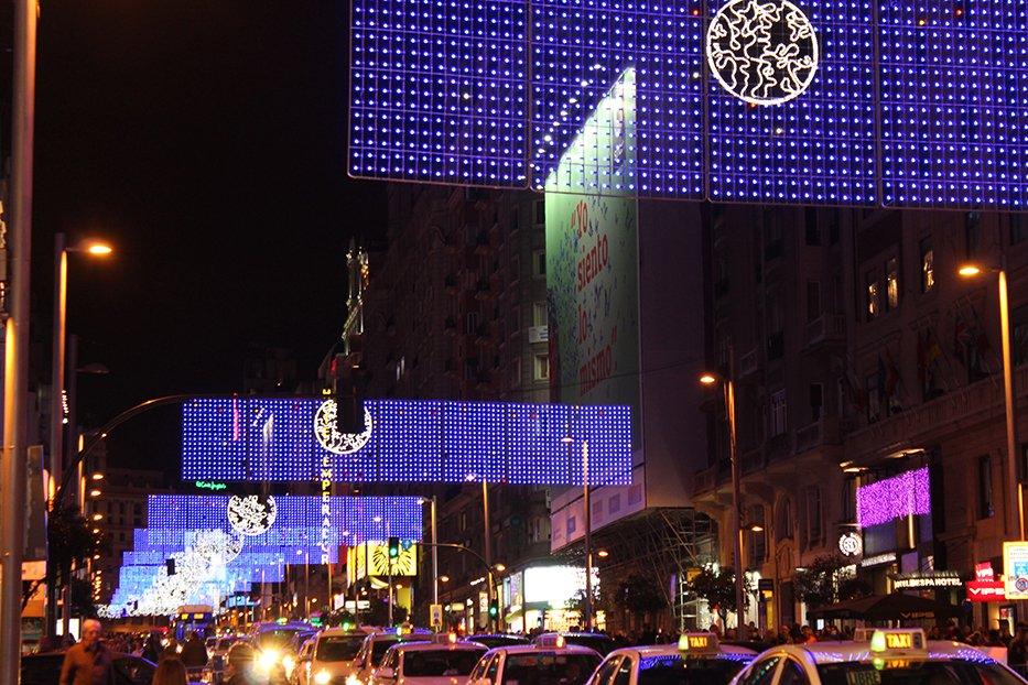Navidad en Madrid: Gran Vía.
