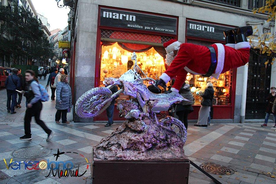 Navidad en Madrid: Santa en moto.