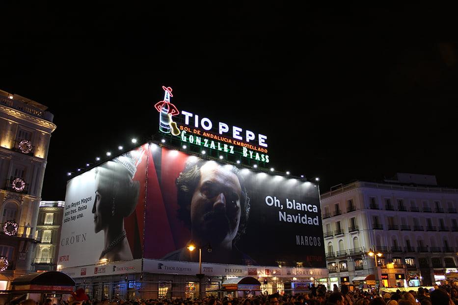 Navidad en Madrid: Tío Pepe en Puerta del Sol.