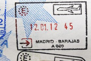 Emigrantes retornados: Sello del Aeropuerto de Madrid