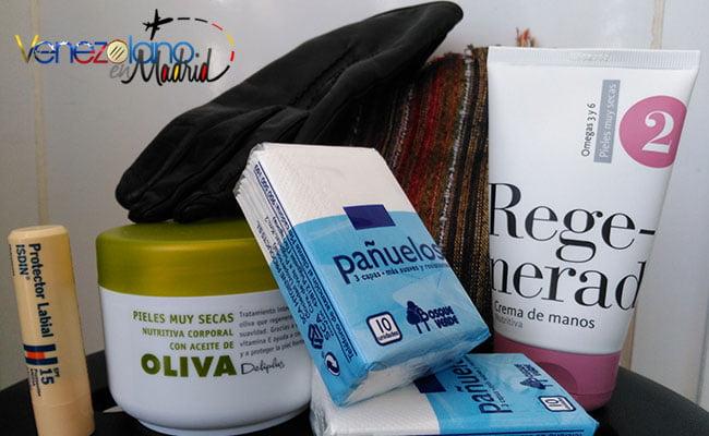 No pueden faltar en las compras en Madrid en invierno: productos de cuidado personal.