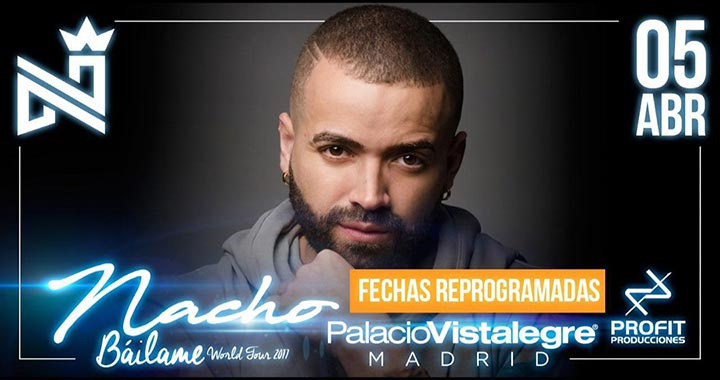 Nacho Bailame World Tour Madrid 05 de Abril 2018