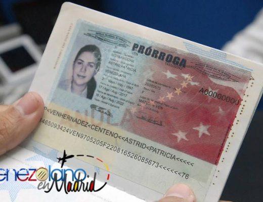 Cómo solicitar la prórroga del pasaporte venezolano en España